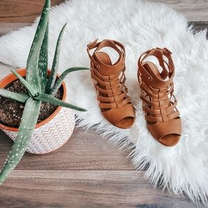 Call it spring peep toe strappy sandles